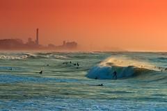 Surfing at sunset - Tel-Aviv beach - Follow me on Instagram:  @lior_leibler22 (Lior. L) Tags: surfingatsunsettelavivbeach surfing sunset telaviv beach sea surfer surf surfers beaches sport waves israel telavivbeach