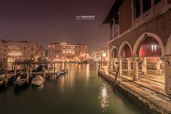 Venezia_1676 (ivan.sgualdini) Tags: italy night seaitaliano boat bridge canal canon city dusk exposure gondola grande italia lights long venezia venice water veneto it