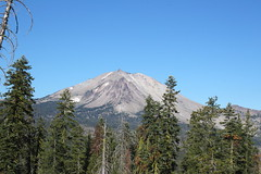 There's Lassen Peak! (rozoneill) Tags: lassen volcanic national park california hiking twin lakes upper lower cluster pacific crest trail peak echo lake