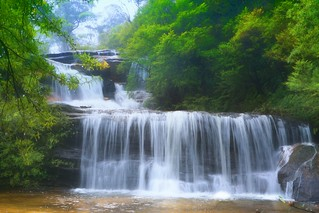 Wentworth Falls in full winter flows
