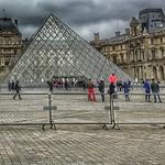 Louvre  - Paris - France  ~   I.M. Pei's glass pyramid in 1989 ~ Courtyard thumbnail