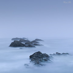 A foggy day (Masako Metz) Tags: foggy ocean sea rocks blue oregon coast pacific northwest usa america nature landscape seascape water longexposure square format thick