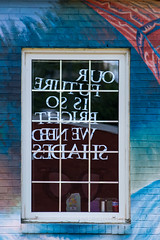 nuF sI gnidaeR (jah32) Tags: windows window inthewindow signs sign colour color colours colors sussex newbrunswick canada backwards