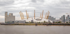 The O2 Arena London (PhredKH) Tags: 70200mm architecture buildings canoneos7dmkii canonphotography ef70200mmf28lisiiusm eastlondon fredkh iconicbuilding isleofdogs london lowtide o2arena photosbyphredkh phredkh riverthames splendid thames thamesriver clouds river scenicwater sky water