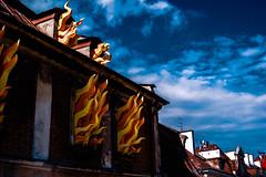 Feu de maison (jérémydavoine) Tags: lublin pologne poland polska lubelskie feu fire ciel sky maison home city ville