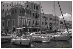 Old Harbour (Dr_Babis) Tags: nikon d610 nikkor50mm fx bw blackwhite monochrome greece chania crete harbour summer