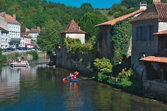 Brantome, Dordogne (surreydock) Tags: france brantome river canoe water medieval village dordogne dromme autumn