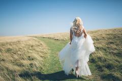 Abigail - IoW 2 (Robbie Khan) Tags: isleofwight mua canon canonphoto georginachambers portrait theneedles 35mm blue green model bride bridal weddingdress