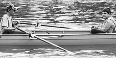 JandF_Karlovac2018(01) (Stanislav Kitarovic) Tags: nikonnikkor135mmf28ais blackandwhite monochrome bw rowing brothers children water river sport people symmetry d7000