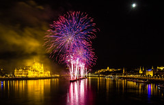 the show continues (werner boehm *) Tags: wernerboehm budapest firework hungary danube