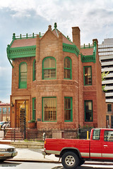 Curry-Chucovich House, Denver (StevenM_61) Tags: cityscape house townhouse historical victorian offices pickuptruck fence denver colorado unitedstates