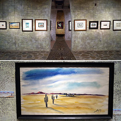 """Desert Dwellings"" on display through January 30th, 2019. (DeGrazia Gallery in the Sun) Tags: teddegrazia degrazia ettore ted artist galleryinthesun artgallery gallery nationalhistoricdistrict foundation nonprofit adobe architecture tucson arizona az santacatalinas desert desertdwellings landscapes paintings exhibit exhibition"