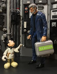 Ha ha don't worry pal it's in good hands. (chevy2who) Tags: customstarwars figure action actionfigure toyphotography toy mickymouse georgelucas custom blackseries series black starwars starwarsblackseries wars star