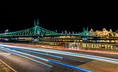 Liberty bridge at night (Vagelis Pikoulas) Tags: liberty bridge budapest hungary europe travel long exposure night nightscape canon 6d tokina 1628mm view september autumn 2018 city cityscape urban traffic lights