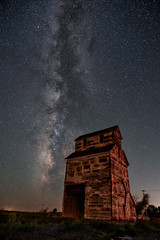 Ardell, Ks Grain Elevator (lefturn99) Tags: milky way night stars grain elevator wooden wood frame astro astrophotography
