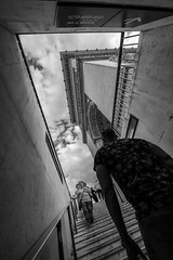 Going to the top of the Arc de Triomphe (jeffclouet) Tags: paris france europe capital nikon nikkor d850 monochrome blackandwhite pb nb bw ville city cuidad downtown rue street calle urbain urban urbano people personas perspective arc arco triomphe etoile monument monumento edificio building escaleras escalier streetshot streetphotography streetpic stairs staircase bystanders travel turismo trip tourisme perspectiva walking