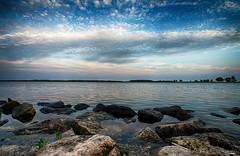 Río Ebro (candi...) Tags: deltadelebro rio ebro cielo nubes atardecer piedras agua paisaje naturaleza nature sonya77 airelibre