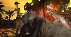 Safari - SPLASH - 50,000L Entry # 1 (Roxy River) Tags: secondlife elephant giraffe safari