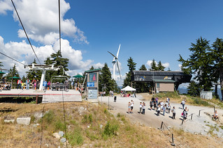 Grouse Mountain chairlift station