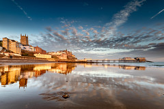 Cromer Reflections (andybam1955) Tags: landscape seascape cromerpier pier coastal clouds sky northnorfolk rural cromer norfolk sea