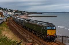 57604 (Teignstu) Tags: dawlish devon seawall railway gwr class57 57604 2c51 sea