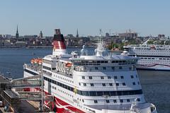 Viking Line terminal in Stockholm (Bruno Jargot) Tags: cinderella gabriella ship stockholm sweden terminal vikingline stockholmslän suède se