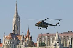 Hungarian Air Force Mi-17 702 | Budapest | Hungary (KristofCs) Tags: mi17 702 hungary budapest helicopter mil danube august20 airshow airforce hungarian matthiaschurch halászbástya fishermansbastion templom mátyás hilton hotel