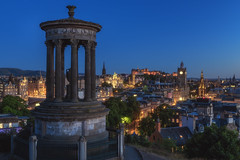 Scotland - Edinburgh Blue Hour (030mm-photography) Tags: rot scotland edinburgh schottland uk travel stadt city reise architecture architektur blauestunde bluehour blue blau historic nightshot nachtaufnahme nacht night