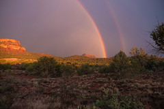 Monsoon In Sedona (Jnipco) Tags: monsoon rainbow mountains sedona rocks storm landscape arizona
