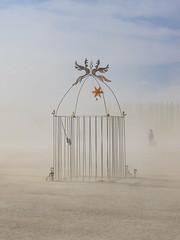 Gilded Cage, Burning Man 2018 (kate beale) Tags: burningman brc 2018 city blackrockcity blackrockdesert nevada desert highdesert brc2018 dust thankslarry cage singularity duststorm