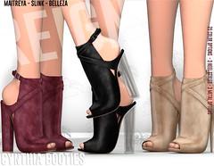 REIGN.- CYNTHIA BOOTIES (REIGN♥) Tags: reign teamreign secondlife shoes slink summer sl slevent collabor88 collab c88 maitreya mesh kenadee kenadeecole kenadeereign heels hourglass