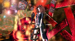Just like Fire (Varosh Santanamiguel) Tags: twisted twistedhunt twistedhuntinferno twistedinferno inferno drama dramazone fire pink devil demon pentagram rose burning lilithsden gacha gift freebie free freebies hunt hint sale promo rare secondlife gown dark darkness new september areiyon vsm