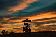 Aussichtsturm am Landesblick (clemensgilles) Tags: meerfeldermaar vulkaneifel rheinlandpfalz deutschland germany eifel sonnenuntergang sunset