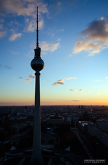 Berlin TV Tower (dgoomany) Tags: holiday vacation trip citybreak europe germany berlin history worldwarii wwii monuments views exploring sky blue sunny travelling travellers communism architecture oldbuildings buildings tvtower soviet ussr tv broadcasting