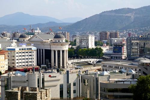 A view of modern Skopje from Skopje Fortress