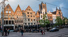 2018 - Belgium - Gent - Old Town Square (Ted's photos - For Me & You) Tags: 2018 belgium cropped ghent nikon nikond750 nikonfx tedmcgrath tedsphotos vignetting ghenttownsquare ghentbelgium tracks traintracks patio patioseating seating people peopleandpaths pathsandpeople umbrellas car vehicle starbuckscoffee