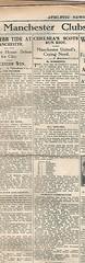 Athletic News original match report on Chelsea v Manchester United Season 1930-1 (Leslie Millman-Manchesterunitedman1) Tags: chelsea stamfordbridge