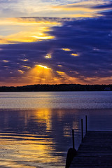 Holes in the Sky (Bob's Digital Eye) Tags: bobsdigitaleye canon canonefs1855mmf3556isll clouds flicker flickr glow h2o laquintaessenza lake lakesunsets lakescape landscape reflection sep2018 sky skyline skyscape sun sunset sunsetsoverwater t3i water