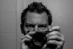 Self-Portrait (Jontsu) Tags: self portrait fujifilm fujifilmxe2 fuji helios 58mm f2 black white bw