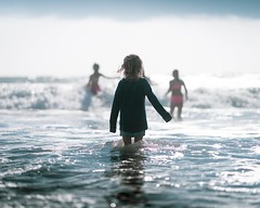 Into the blue (jameswilkinson1) Tags: vacation water ocean beach waves child sea people