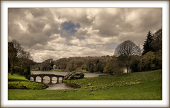 Stourhead(UK) (williamwalton001) Tags: pentaxart park plants trees texture timber historic bridge buildings woodlands water nationaltrust lake landscapephoto grasses gardens