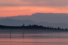 Lake at sunset (Massimo_Discepoli) Tags: lake sunset moody red orange water trasimeno beautiful landscape