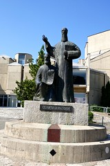 St. Cyril & St. Methodius, Skopje (ali eminov) Tags: skopje macedonia universities universityofskopje sculptures statues stcyril stmethodius
