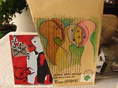 Éric Babaud dans ma boîte,MERCI ...*mai* !  #art-postal #mailart (nathalielaboisdebesson*) Tags: artposté stamps timbres dessin drawing enveloppes courriers correspondances couleurs faces papier portrait postal artiste art