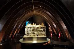 Casa Mila model in the attic (xd_travel) Tags: spain barcelona nov2015 casamila gaudi lapedrera architecture modernism interior attic model arch