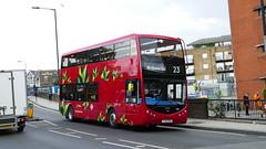 Towering Electrics (londonbusexplorer) Tags: tower transit optare metrodecker ev md1 yj17fxx 23 westbourne park aldwych tfl london buses