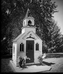 The Little Chapel Elkhorn Iowa (pam's pics-) Tags: ia iowa midwest us usa america pamspics pammorris hipsta hipstamatic chapel church smallchurch historic smalltown bw blackandwhite iphone7 appleiphone mobilephonephotography cameraphone cellphonecamera danish denmark danishhistory elkhorniowa