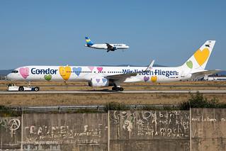 D-ABON Condor Boeing 757-330(WL) - 'Wir lieben Fliegen' special colours (FRA - EDDF - Frankfurt)