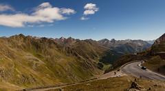 Panoramablick vom Timmelsjoch Richtung Passeiertal (Alto Adige), rechts im Hintergrund die Marmolada (schnuffelkind1) Tags: marmolada timmelsjoch österreich tirol passstrasse passhöhe gebirge berge natur panorama canon