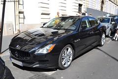Maserati Quattroporte S 2013 (Monde-Auto Passion Photos) Tags: voiture vehicule auto automobile maserati quèattroporte berline noir black sportive france georgev paris